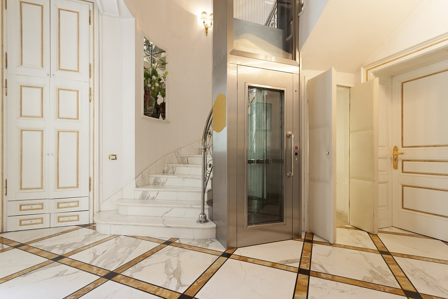 Elevator in house