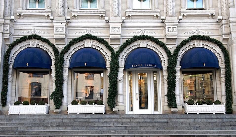 Facade of Ralph Lauren flagship store