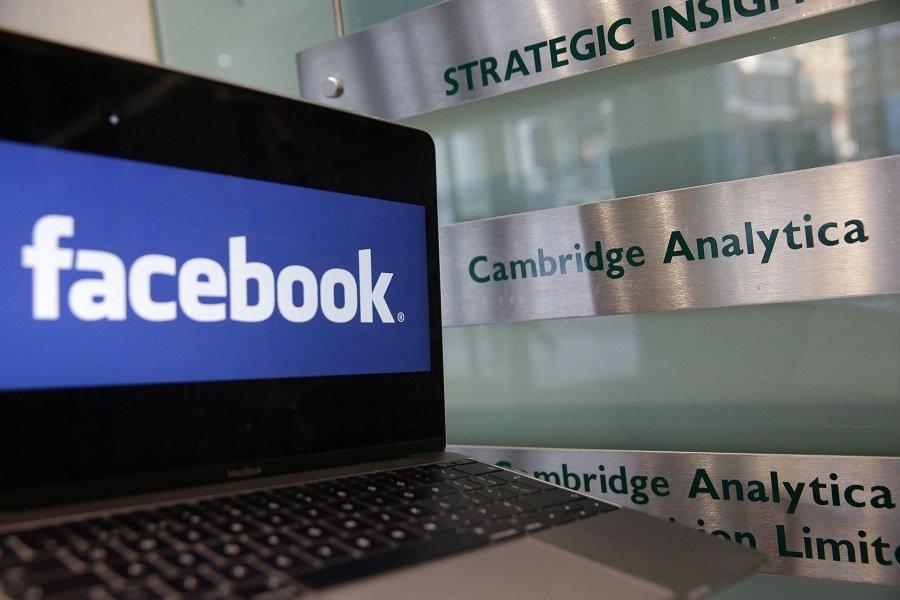 Facebook logo onscreen