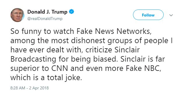 Tweeting about 'fake news' has become like a second job for Donald Trump.