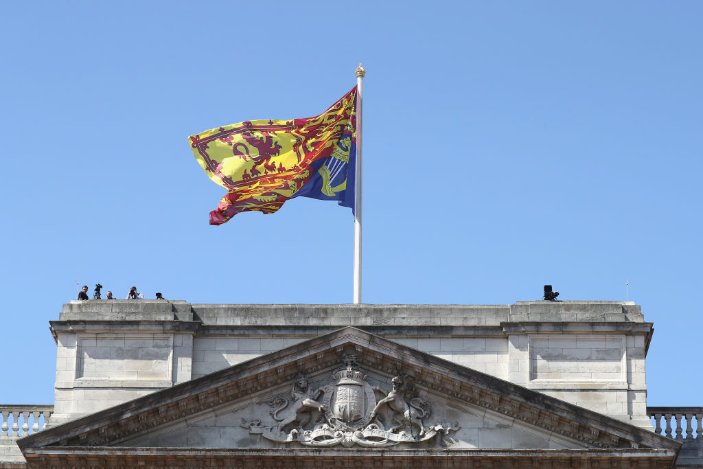 Royal Standard Flag at Buckingham palace