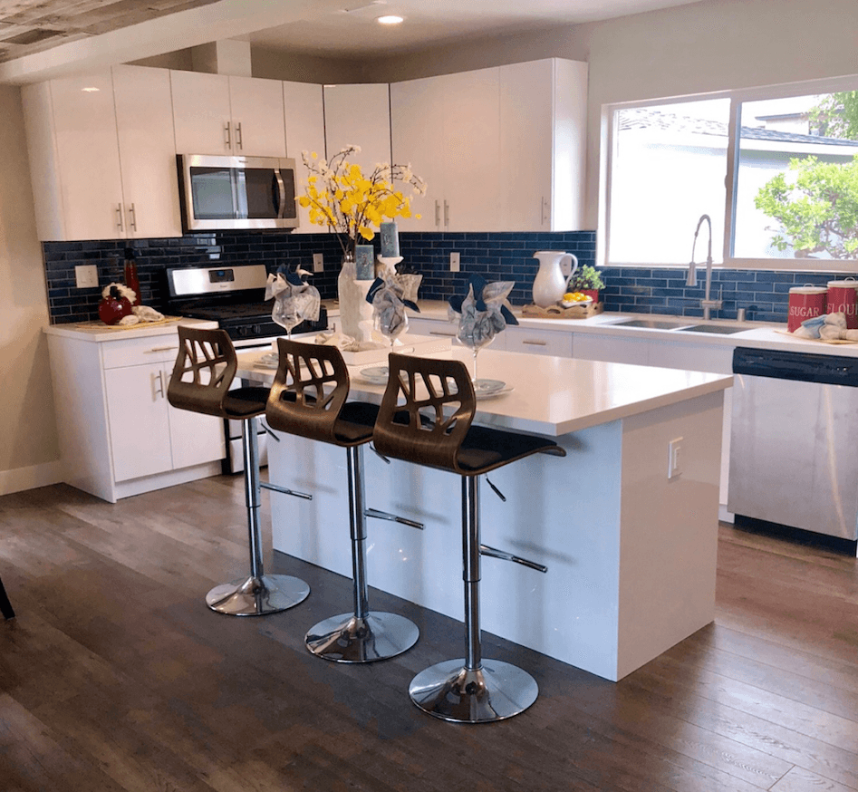Flip or flop white cabinets