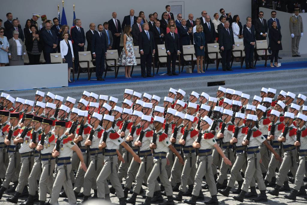 Annual Bastille Day military parade on the Champs-Elysees avenue in Paris