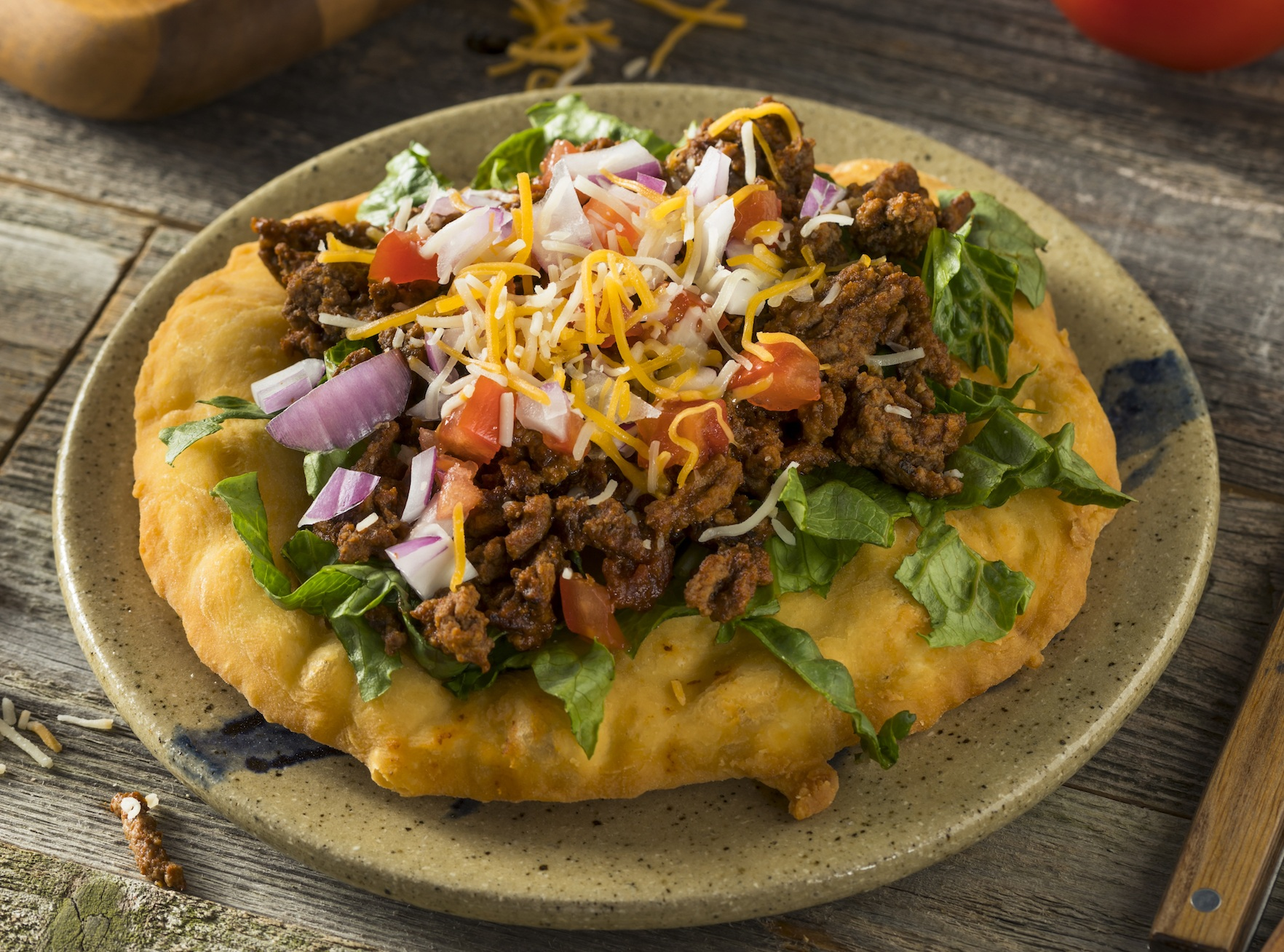 Homemade Indian Fry Bread Tacos`