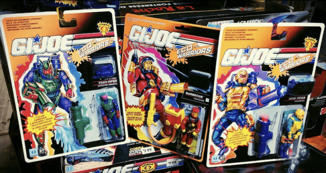 GI Joe action figures.