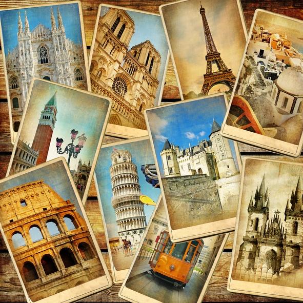 vintage European postcards