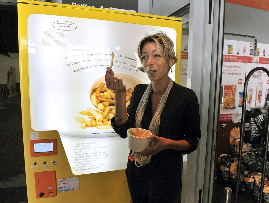 Fries vending machine