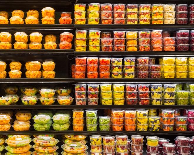 prepared foods fruit display