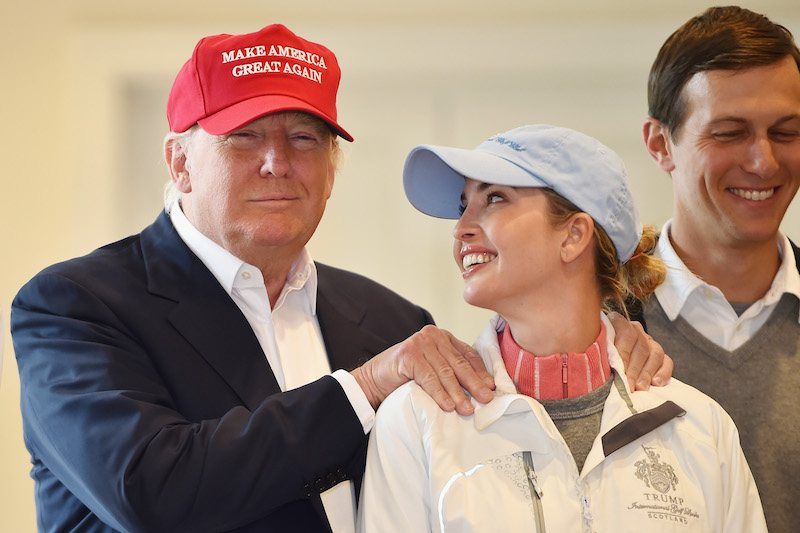 Donald Trump visits his Scottish golf course Turnberry with his daughter Ivanka Trump