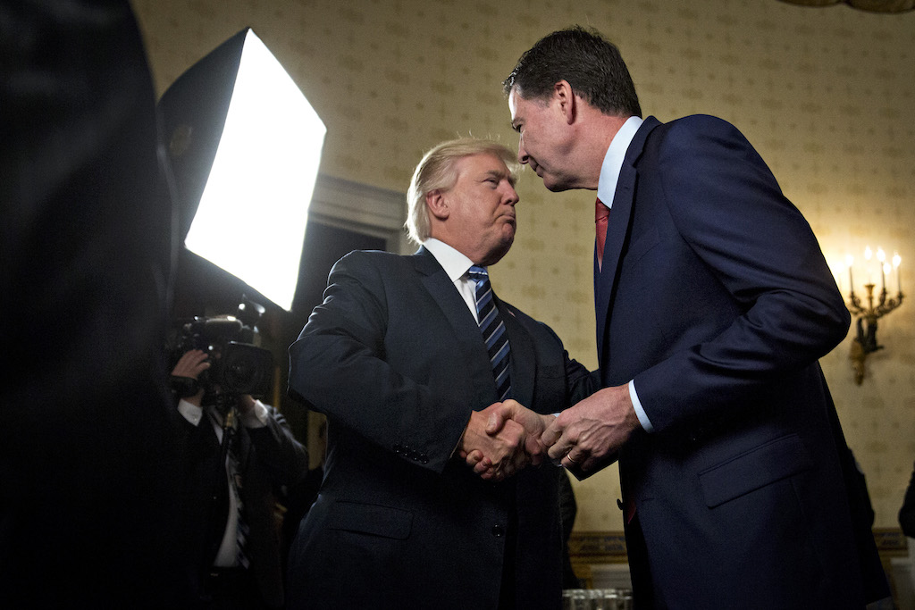 Donald Trump and James Comey