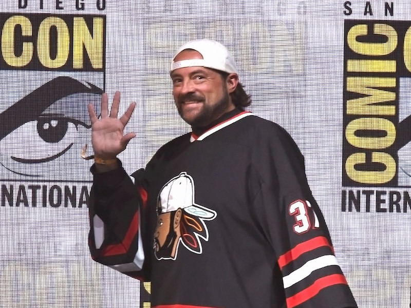 SAN DIEGO, CA - JULY 23: Moderator Kevin Smith at Dirk Gently's Holistic Detective Agency: BBC America Official Panel during Comic-Con International 2017 at San Diego Convention Center on July 23, 2017 in San Diego, California. (Photo by Kevin Winter/Getty Images)
