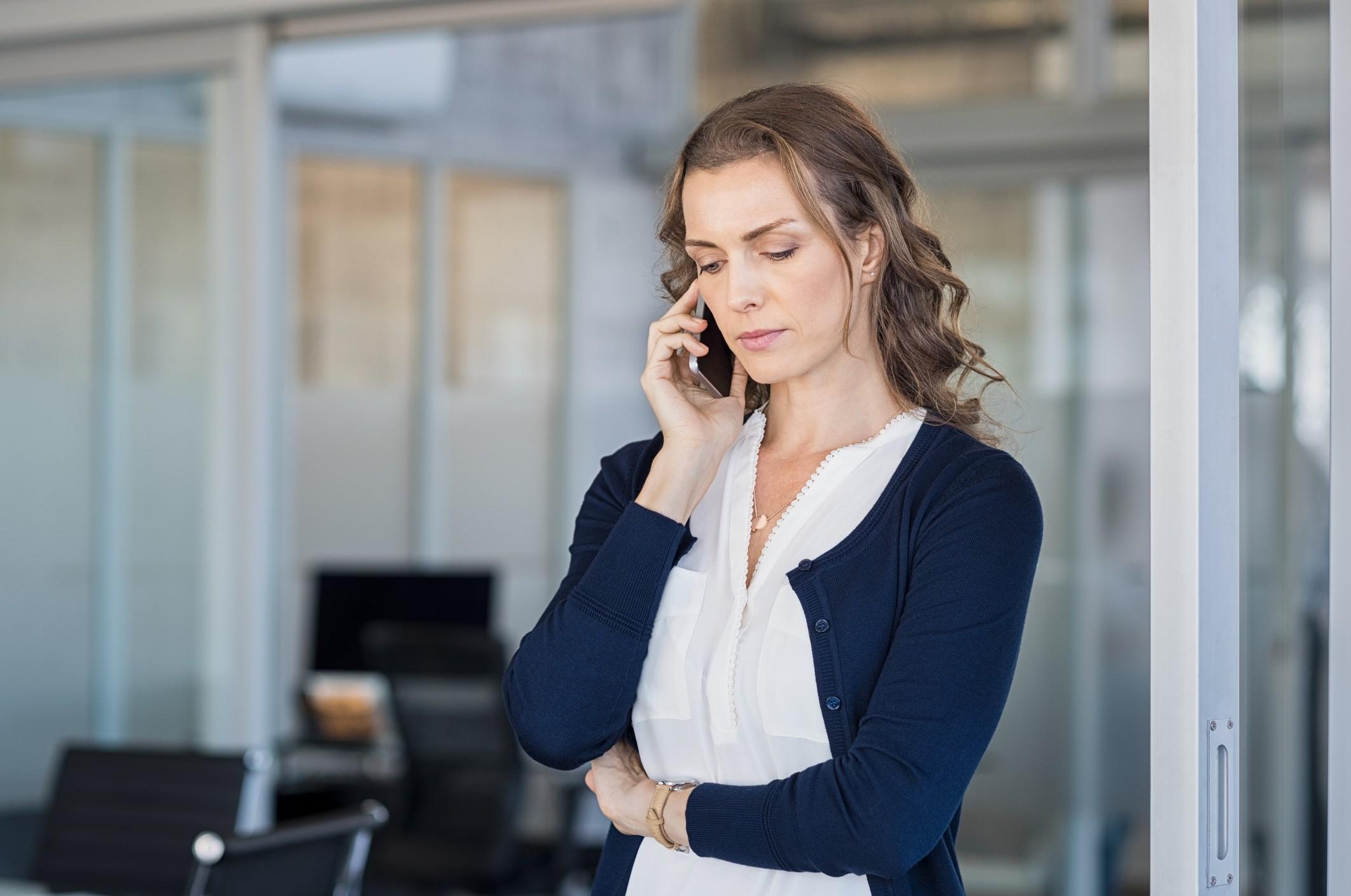 woman on phone