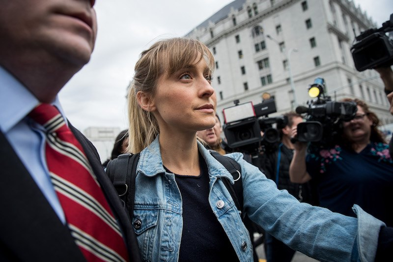 Actress Allison Mack Appears In Court Over Case Involving Alleged Sex Cult