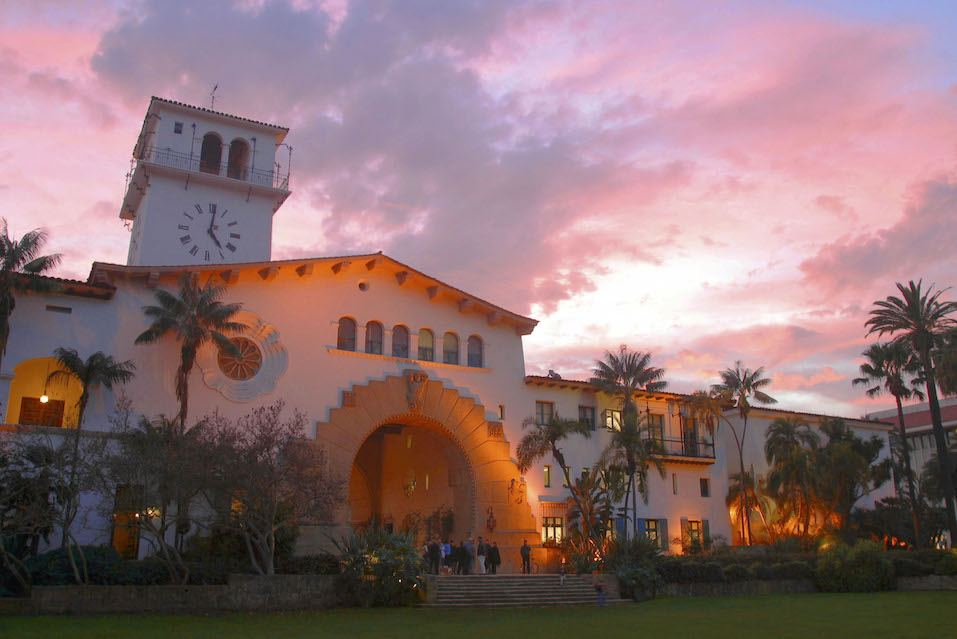 The historical Santa Barbara Courthouse