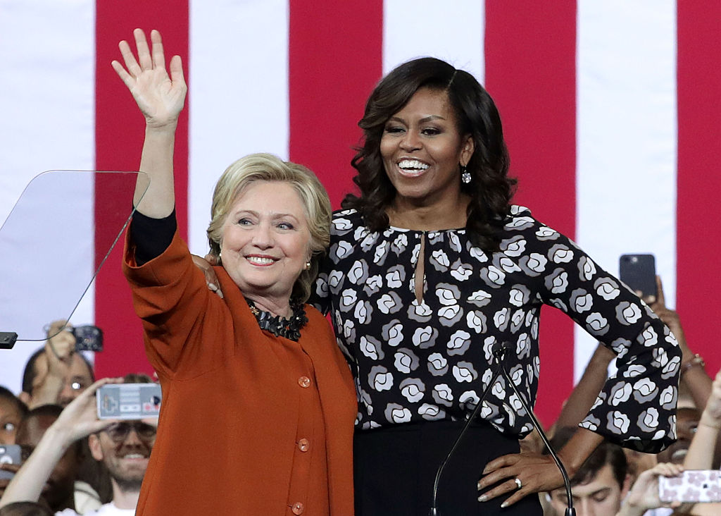 Michelle Obama Campaigns With Hillary Clinton In North Carolina