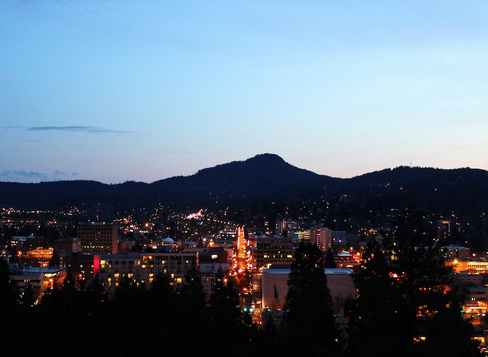 Eugene Oregon at night