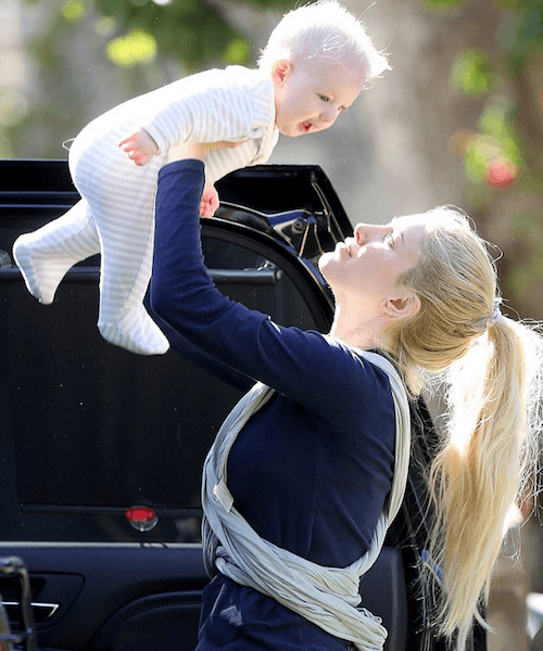 Heidi Montag and her baby.