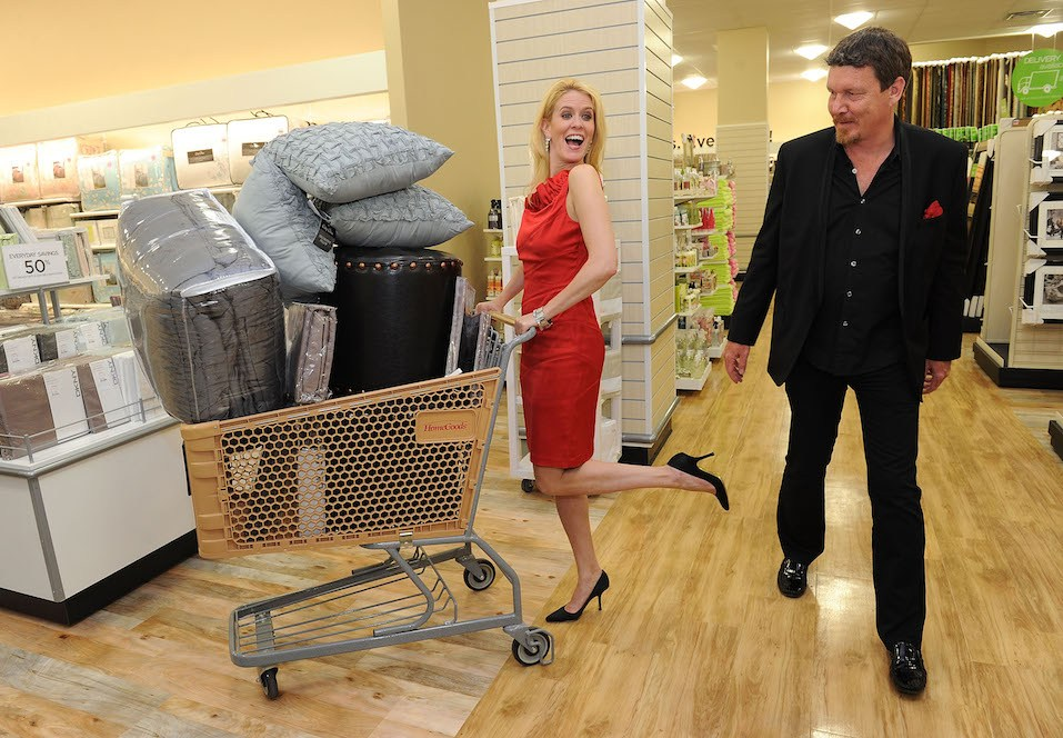 lex McCord and Simon Van Kempen attend the grand opening celebration of HomeGoods