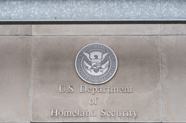 The Department of Homeland Security building.