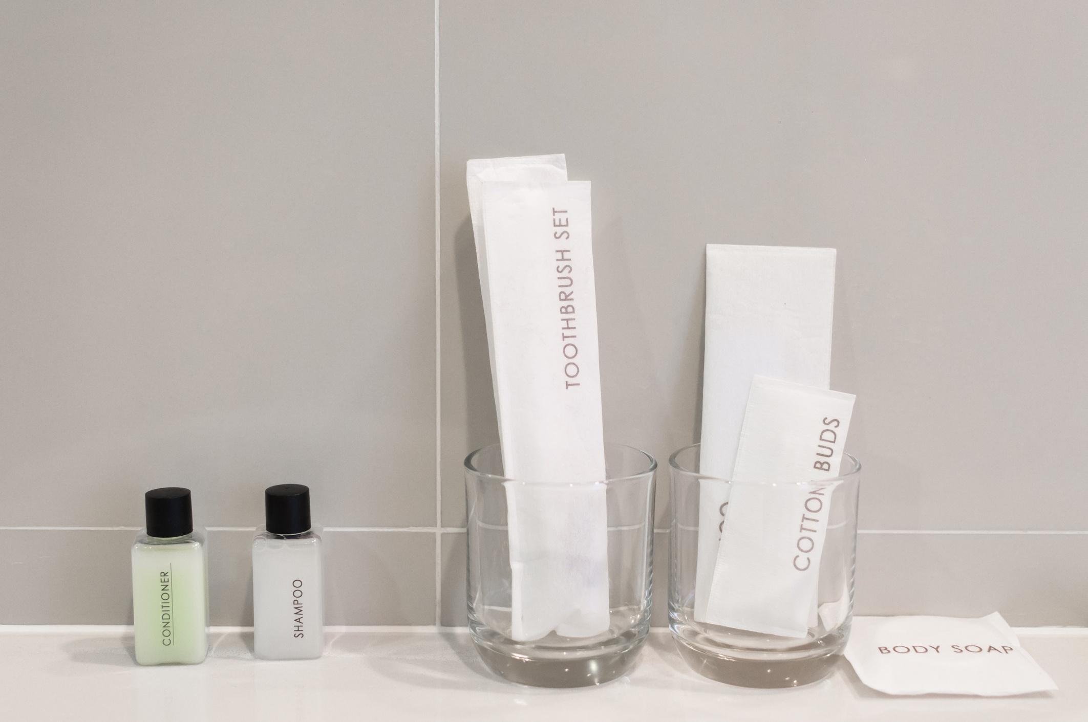 Amenities kit in bathroom the hotel
