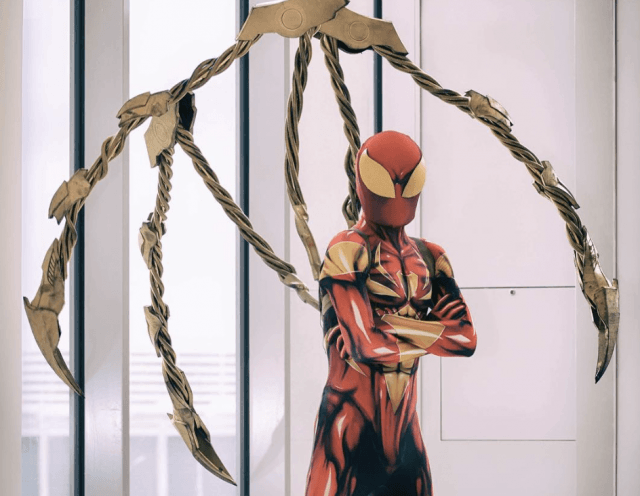 The Spider-Man's mechanical arms.
