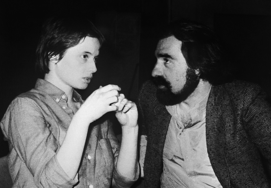 Isabella Rossellini and Martin Scorsese.