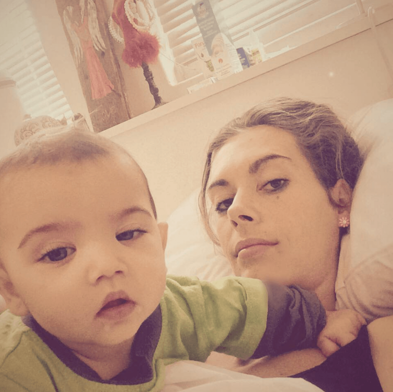 Jana Bezuidenhout and her son