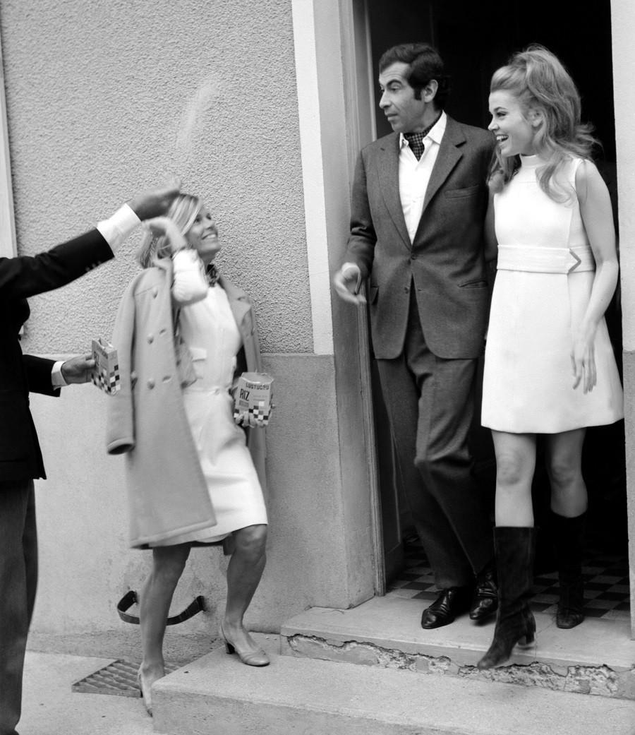 Roger Vadim and Jane Fonda