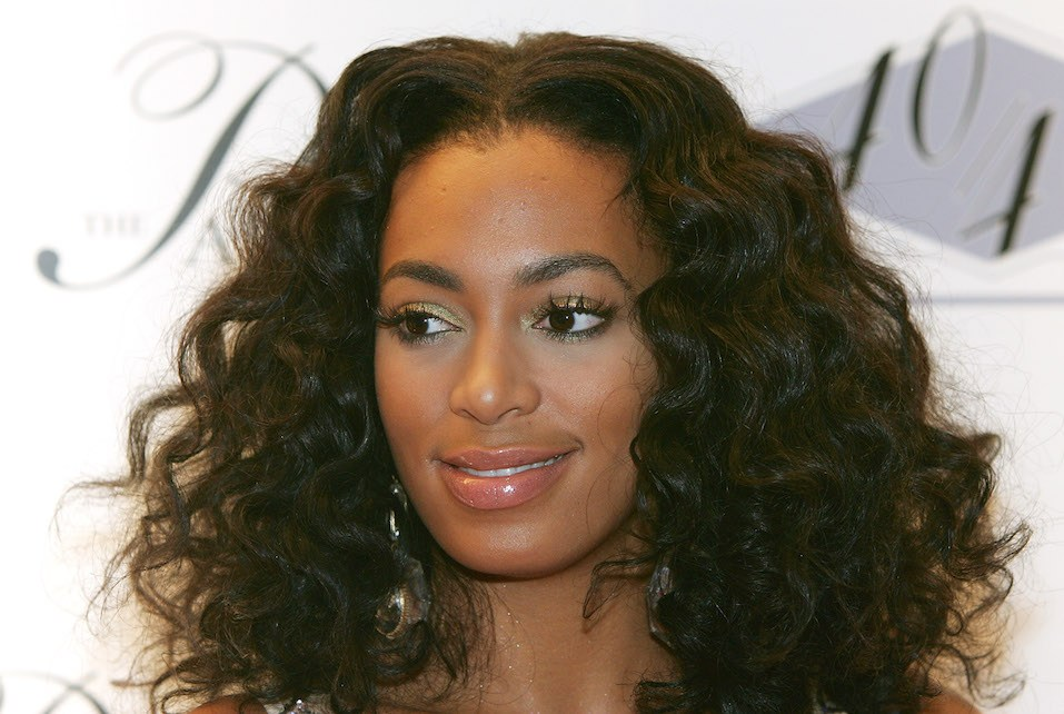 Singer/actress Solange Knowles arrives at the opening of Jay-Z's USD 20 million 40/40 Club