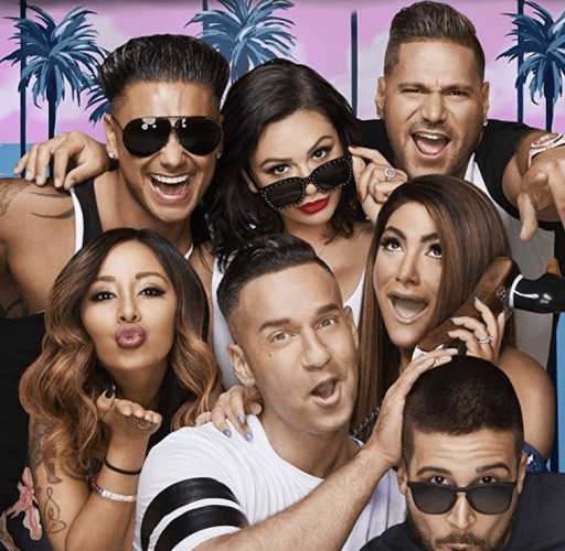 The cast of 'Jersey Shore' in a promo image.