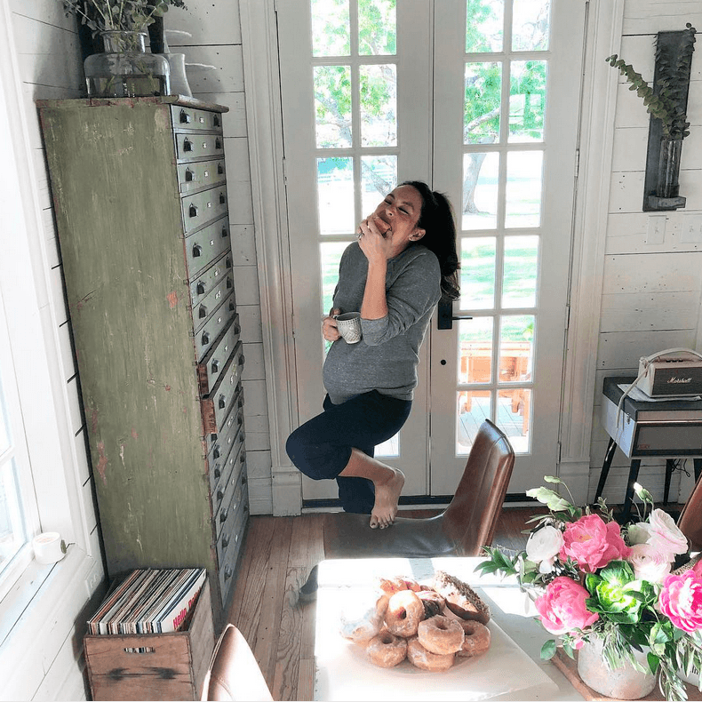Joanna Gaines during her pregnancy