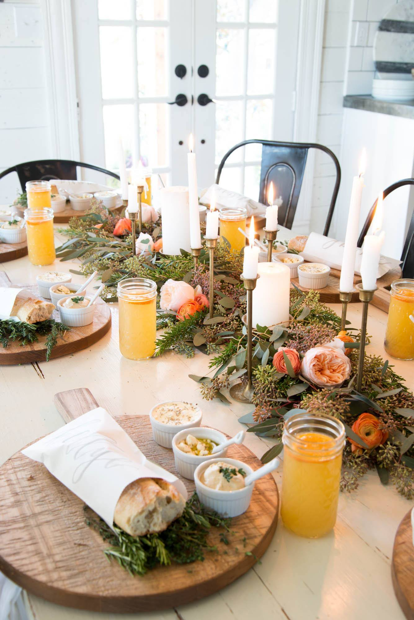 Joanna Gaines table setting