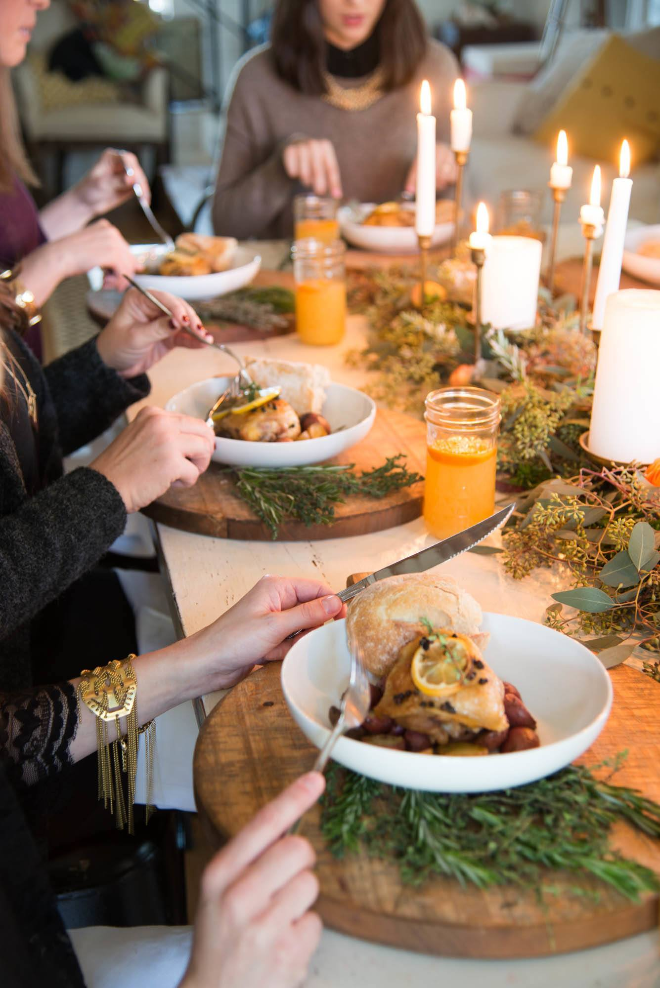 Joanna gaines winter dinner party