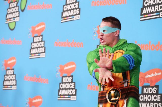 John Cena in costume at an event for the Kid's Choice Awards.