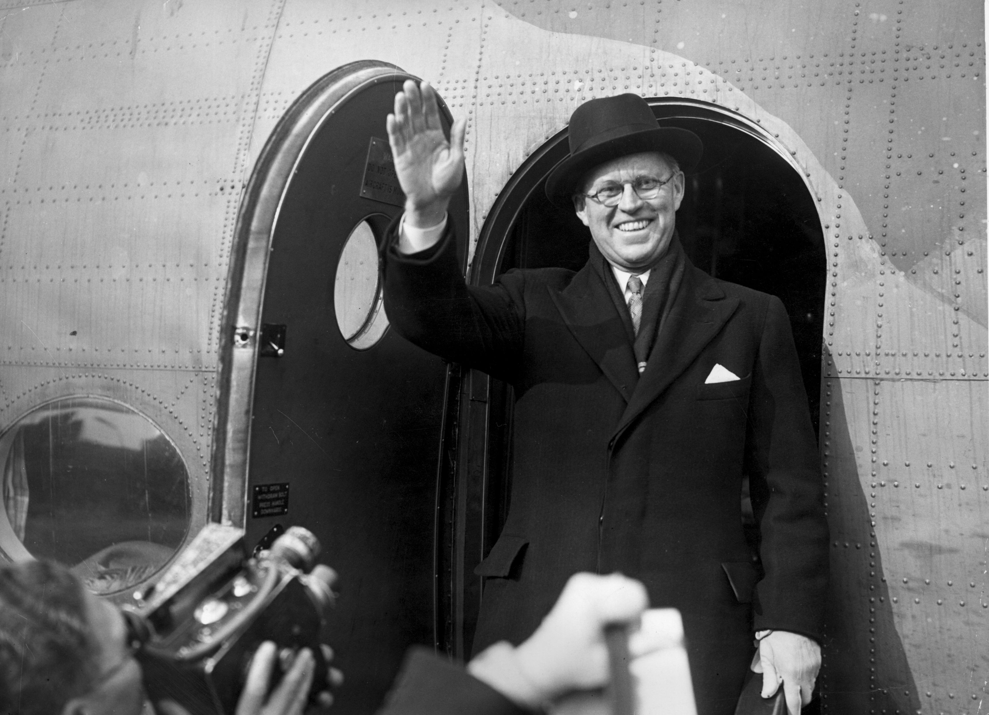 Josephe P. Kennedy Waving at press