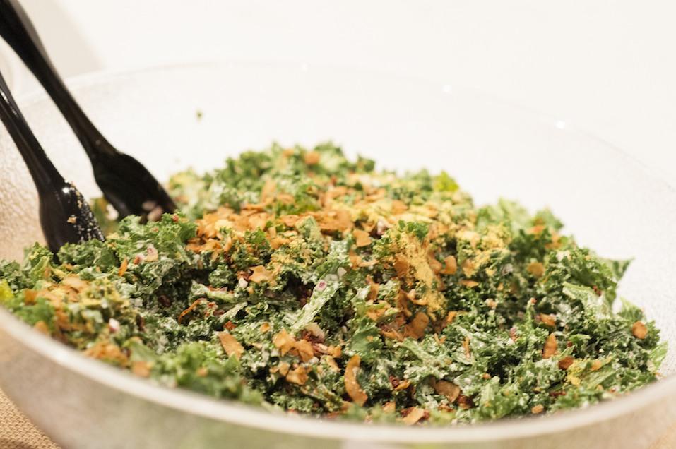 Kale caesar salad