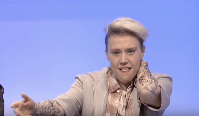 McKinnon as Justin Bieber on 'Saturday Night Live'.