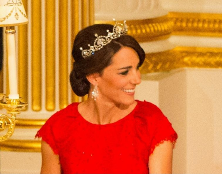 Kate Middleton lotus flower tiara