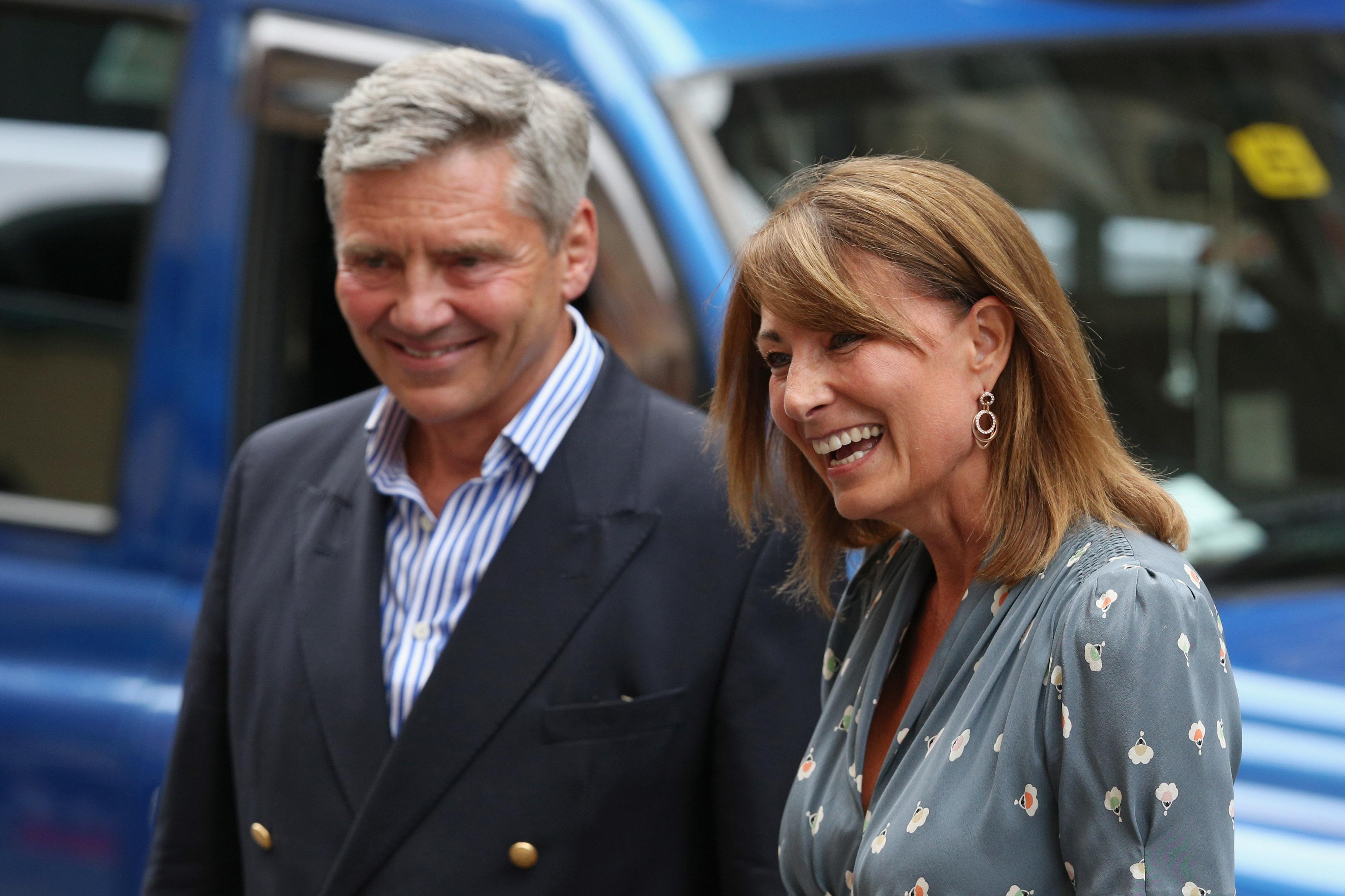 Carole Middleton and Michael Middleton