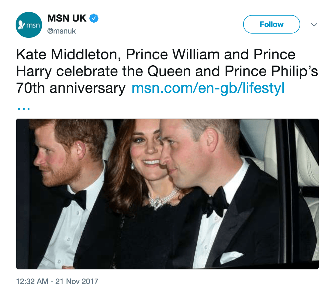 Kate middleton necklace tweet