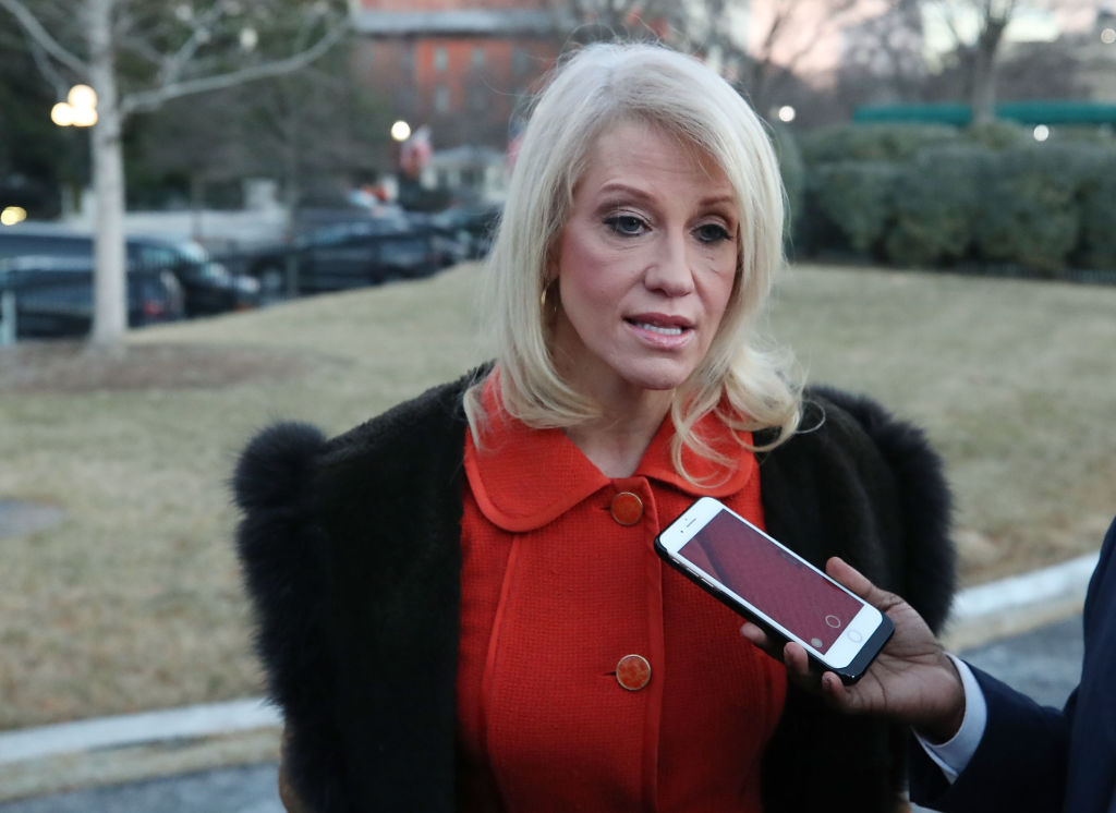 Kellyanne Conway Speaks With Press About Possible Government Shutdown