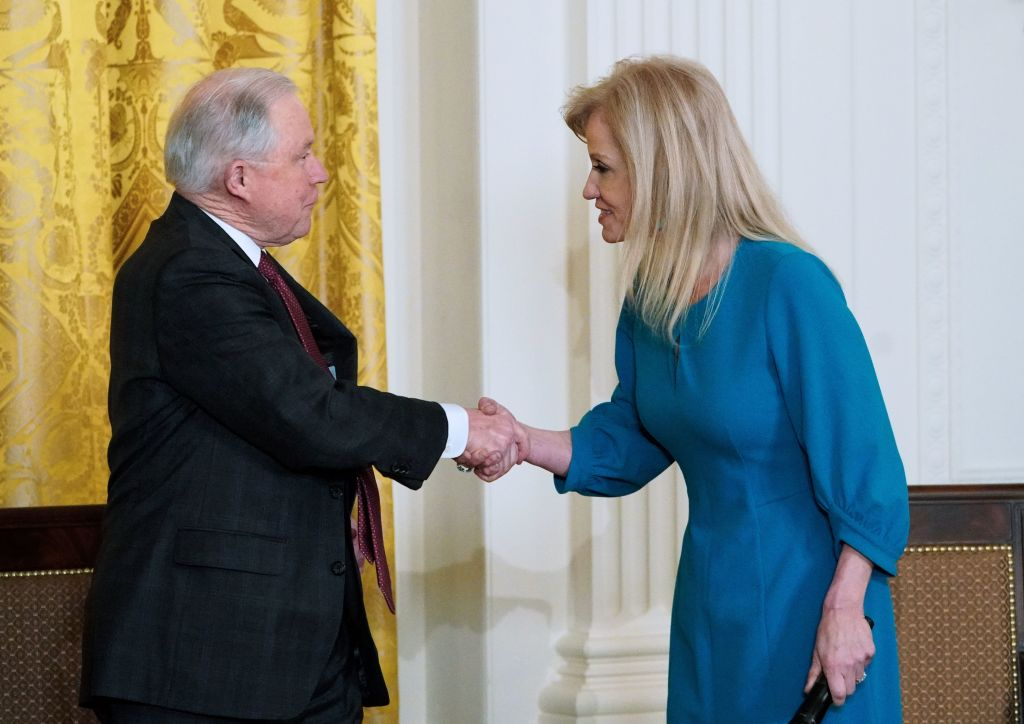 Kellyanne Conway and Jeff Sessions