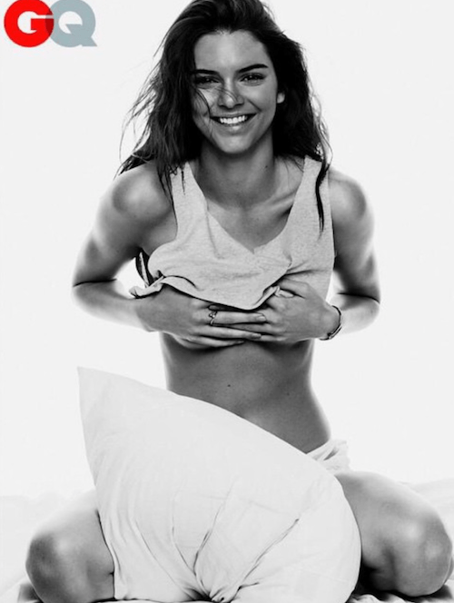 Kendall Jenner smiling in her GQ shoot.