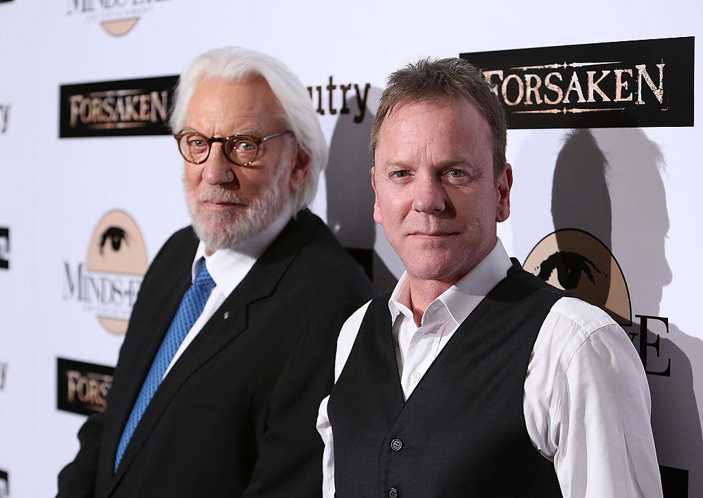Kiefer and Donald Sutherland