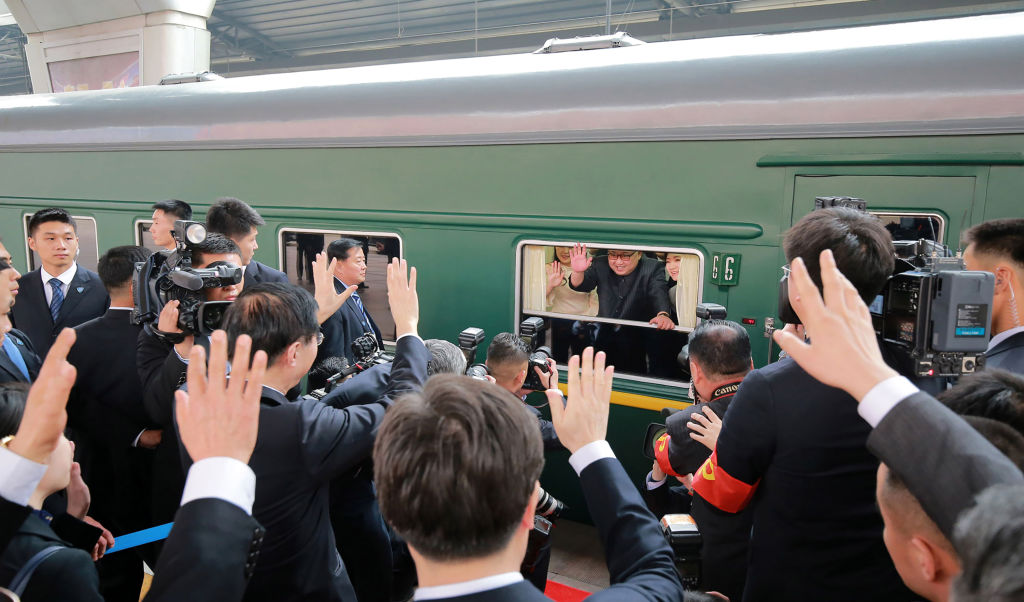 Kim Jong Un travels by train to China