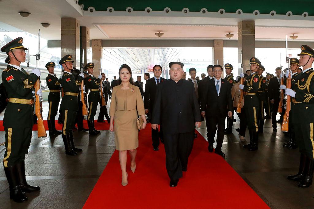Kim Jong Un and Ri Sol-Ju in China
