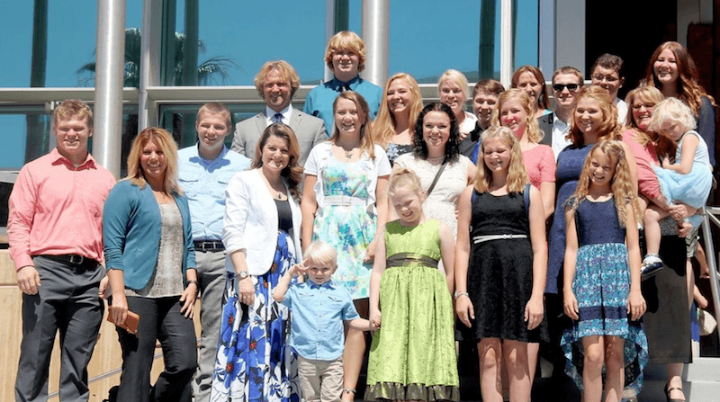 """Kody Brown and his family from """"Sister Wives"""""""