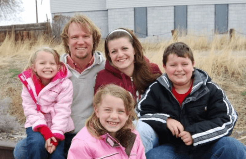 "Kody Brown with one of his wives and children from ""Sister Wives"""