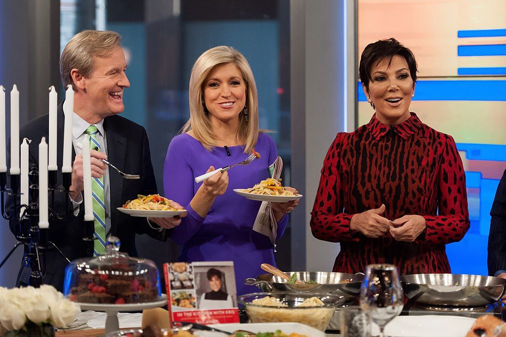 "Steve Doocy and Ainsley Earhardt interview Kris Jenner during her visit to ""Fox And Friends"""