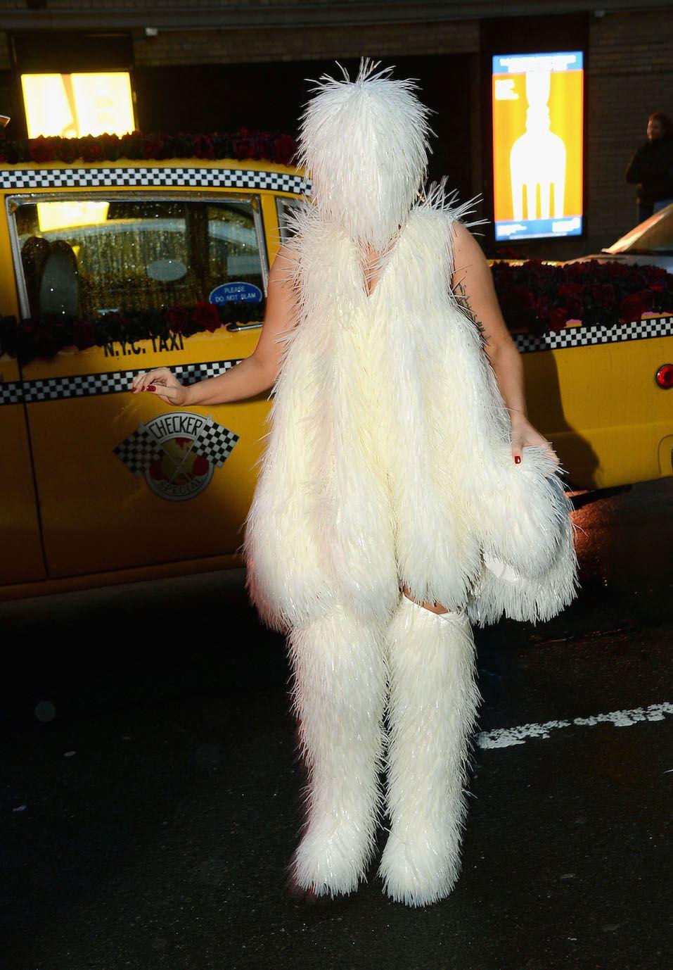 Lady Gaga arrives at Roseland Ballroom